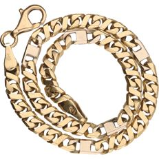 14 kt - Yellow gold, curb link bracelet - Length: 22.5 cm