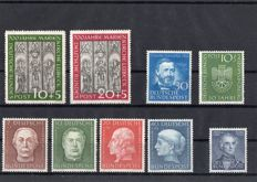 Bundespost - selection between 1951  and 1955
