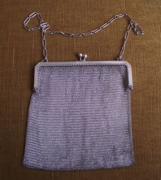 Antique Solid Silver ladies mesh bag