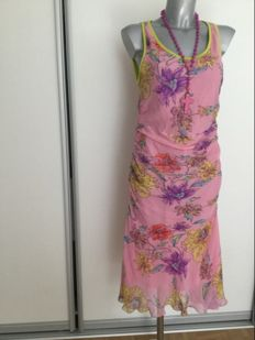 Ungaro – 100% silk dress, very beautiful with fantastic colours