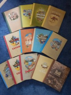 Collection of 13 images albums issued by Douwe Egberts