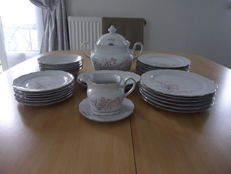 Coffee service for 6 people - Winterling Roslau Baveria + table service - 55x
