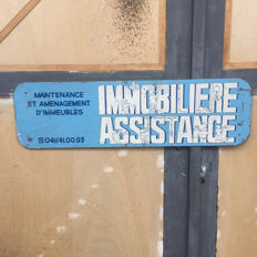 Old French advertising sign - Immobiliere assistance
