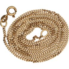 18 kt - Yellow gold curb link necklace - Length: 61 cm.
