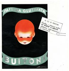 1954 Advertising, Buitoni gluten enriched Pasta - original
