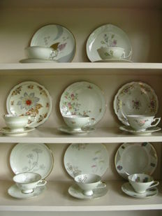 Lot with eight different breakfast sets, Dejeuner, High Tea