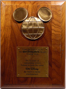 Walt Disney World - Original Award - 10 years of World Disney World service (ca. 1970)
