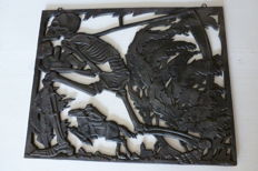 Cast iron relief wall decoration