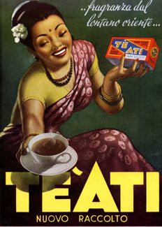 1954 advertising, Ati tea, original