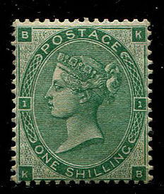 Great Britain 1862/64 - Queen Victoria - 1 shilling deep green Stanley Gibbons 89