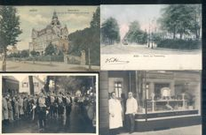 Germany,152x; old and very old village and city views - including military circulated cards
