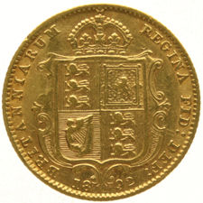 England – ½ Sovereign 1892 Victoria – gold