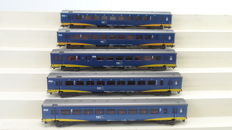 Märklin H0 - 42643 - Set of 3 passenger carriages and 2 loose InterCity Plus carriages of the NS