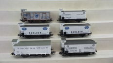 Piko H0 - 58042/95452/54018 - 6-part freight set with refrigerator carriages of the NS, era III