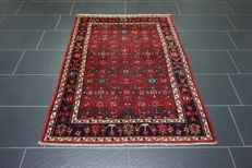 Old Persian carpet, Malayer Hamadan, 150 x 210 cm, natural colours, made in Iran