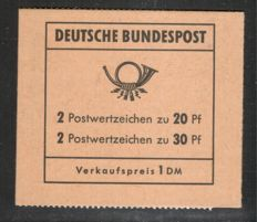 Federal Republic of Germany 1968 – Brandenburg Gate stamp booklet, verified Schmidl BPP, Michel MH 14 d