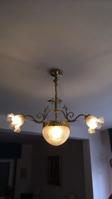 A French bronze chandelier - 1950's