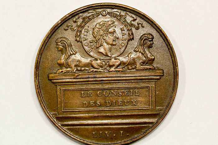 France - Medal 'Ovid / The Council of the Gods' n.d. - Bronze
