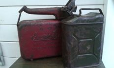 2 Jerry cans from the sixties