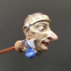 """Figural clay pipe by Gambier, """"Hyacinthe"""", model nr. 952- France, ca. 1880"""
