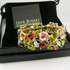Amazing Joan Rivers Crystal flower bracelet