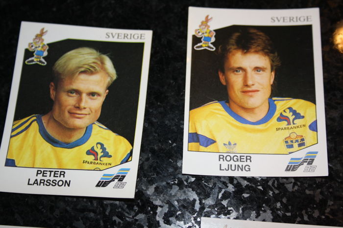 23 SVERIGE LARSSON NEW WITH BLACK BACK TOP MINT!! Panini EURO 92 N