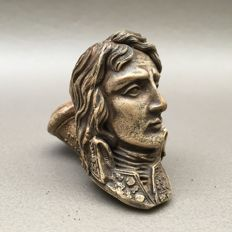 """Figural clay pipe by Gambier, """"Bonaparte aux Alpes"""", model nr. 834- France, ca. 1870"""