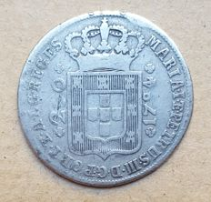 Portugal – 12 Vinténs 240 Réis – 1784 – D. Maria I & D. Pedro III – High Crown . Scarce
