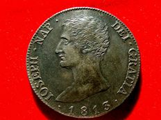 Spain – Jose Napoleon (1808-1813) – 20 silver reales – Madrid 1813. Assayers R.N Very rare.