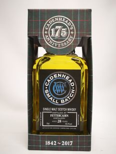 "28 years Fettercairn ""Small Batch"" from Cadenhead, 55.4% abv. - 750 bottles produced."