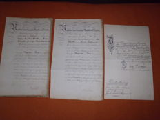 3 Patents of an Officer - Prussia 1866 and 1893.