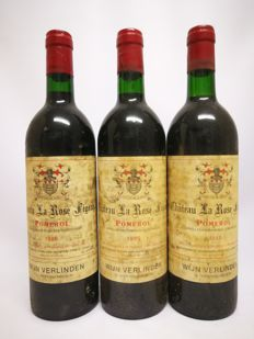 1985 Chateau La Rose Figeac, Pomerol, Grand Vin de Bordeaux ( 3x 750ml)