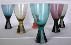 Friedrich Kristall - 40 x crystal glasses, 7 sets