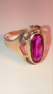 Women's ring with pink sapphire *** No Reserve ***