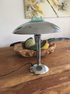 Unknown designer – Mushroom Designer Lamp – Glass/chrome combination