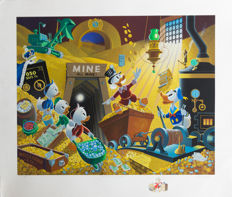 Barks, Carl - Serigraph - Scrooge Mc Duck - Rich Finds at Inventory Time (1994)