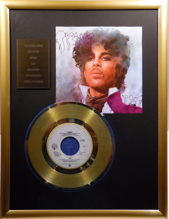 "Prince - ""1999"" - 7"" Single Warner Bros. Records golden plated record Special Gold Edition"
