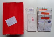 Belgium - collection of letters with counter strips/dispenser strips
