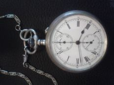 Stauffer Son & Co (IWC) -- Chronograph pocket watch -- Period: 1900s