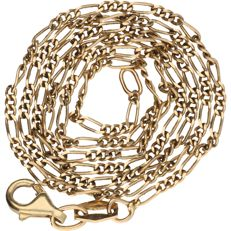14 kt – Yellow gold, Figaro link necklace – Length: 42 cm