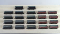 Piko H0 - From various sets - 22 coal/beet carriages of the NS