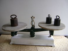 Butcher scales with weights - Belgium