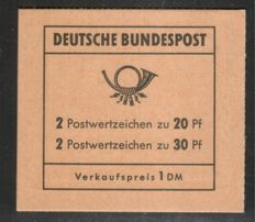 Federal Republic of Germany 1968 – Brandenburg Gate stamp booklet, Schmidl BPP photo attest, Michel MH 14 f