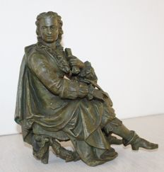 Zamac sculpture of a French nobleman - France - ca. 1900