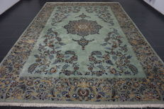 Very beautiful fine antique Persian palace carpet Kashan finest cork wool made in Iran 270 x 370 cm