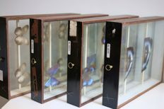 Antique Entomology Butterfly drawers - 40 x 30 x 9cm  (4)