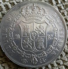 Spain - Isabel II - 20 reales - 1850 - CL - Madrid.