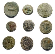Greek and Roman antiquity - Set of 9 specimens ( AE)