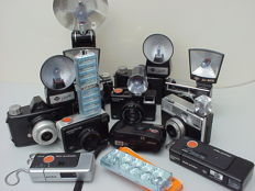 11 Agfa cameras from the second half of the last century. Most with flash.