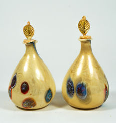 Francesco Fabris - pair of bottles with gold and murrina